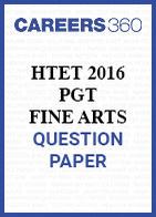 HTET 2016 PGT Fine Arts question paper