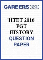 HTET 2016 PGT history question paper