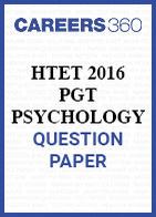 HTET 2016 PGT Psychology question paper