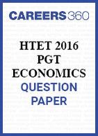 HTET 2016 PGT Economics question paper