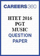 HTET 2016 PGT Music question paper