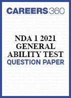 UPSC NDA 1 2021 General Ability Test (GAT) Question Paper