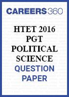 HTET 2016 PGT Political Science question paper