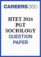 HTET 2016 PGT Sociology question paper