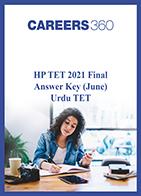 HP TET 2021 Final Answer Key (June) Urdu TET
