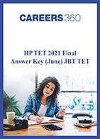 HP TET 2021 Final Answer Key (June) JBT TET