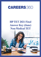 HP TET 2021 Final Answer Key (June) Non-Medical TET