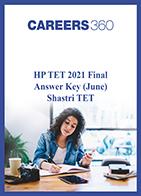 HP TET 2021 Final Answer Key (June) Shastri TET