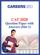 CAT 2020 Question paper with answers (Slot 1)