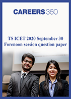 TS ICET 2020 September 30 Forenoon session question paper