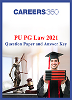 PU PG Law 2021 Question Paper and Answer Key