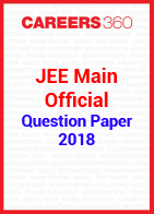 JEE Main 2018 Official Question Paper and Answer Key