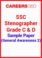 SSC Stenographer Grade C & D Sample Paper (General Awareness 2)