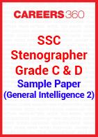 SSC Stenographer Grade C & D Sample Paper (General Intelligence 2)