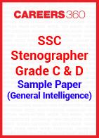 SSC Stenographer Grade C & D Sample Paper (General Intelligence)