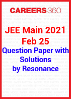 JEE Main 2021 Feb 25 Question Paper with Solutions by Resonance