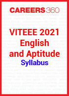 VITEEE 2021 English and Aptitude Syllabus