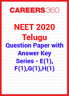 NEET 2020 Telugu Question Paper with Answer Key E(1), F(1), G(1), H(1)