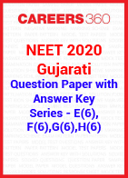 NEET 2020 Gujarati Question Paper with Answer Key E(6), F(6), G(6), H(6)