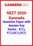 NEET 2020 Kannada Question Paper with Answer Key E (1), F (1), G (1), H (1)