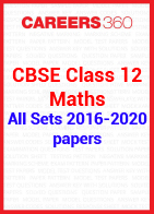 CBSE Class 12 Previous Year Paper - Maths 2016-2020 All Set