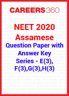 NEET 2020 Assamese Question Paper with Answer Key E3, F3, G3, H3