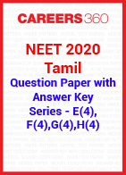 NEET 2020 Tamil Question Paper with Answer Key E4, F4, G4, H4