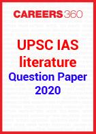 UPSC IAS 2020 literature question paper