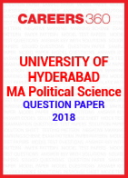 University of Hyderabad MA Political Science Question Paper 2018