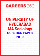 University of Hyderabad MA Sociology Question Paper 2019