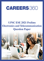UPSC ESE 2021 Prelims Electronics and Telecommunication Engineering question paper