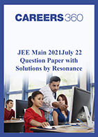 JEE Main 2021 July 22 Question Paper with Solutions by Resonance