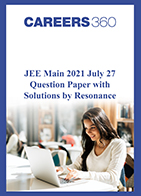 JEE Main 2021 July 27 Question Paper with Solutions by Resonance