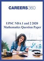 UPSC NDA 2020 Mathematics question paper