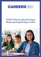 UPTET Question Paper 2 2016 - Hindi and English