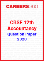 CBSE 12th Accountancy Question Papers 2020