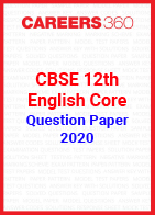 CBSE 12th English Core Question Papers 2020