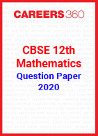 CBSE 12th Mathematics Question Papers 2020