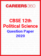 CBSE 12th Political Science Question Paper 2020