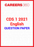 CDS 1 2021 English question paper