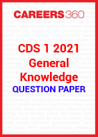 CDS 1 2021 General Knowledge question paper