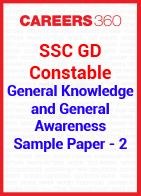 SSC GD Constable General Knowledge and General Awareness Sample Paper 2