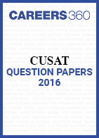 CUSAT Question Papers 2016