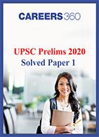 UPSC Prelims 2020 Solved Paper 1