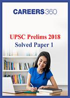 UPSC civil services prelims examination 2018 solved paper 1 question paper