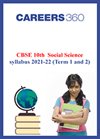 CBSE 10th Social Science syllabus 2021-22 (Term 1 and 2)