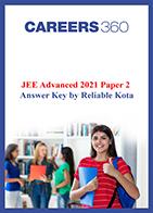JEE Advanced 2021 Paper 2 Answer Key by Reliable Kota