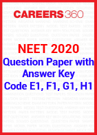 NEET 2020 Question Paper with Answer Key Code E1, F1, G1, H1