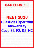 NEET 2020 Question Paper with Answer Key Code E2, F2, G2, H2