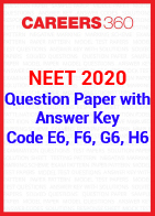 NEET 2020 Question Paper with Answer Key Code E6, F6, G6, H6